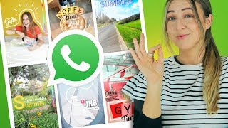 WhatsApp Status   10 Creative Ideas   Using ONLY The App!!