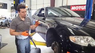 Maserati Quattroporte destroyed suspension from big wheels.