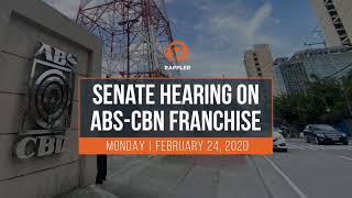 The Senate committee on public services is tackling measures that would renew or extend media giant ABS-CBN's franchise on Monday, February 24, ahead of the House of Representatives http://www.rappler.com/nation/252503-updates-senate-hearing-abs-cbn-franchise