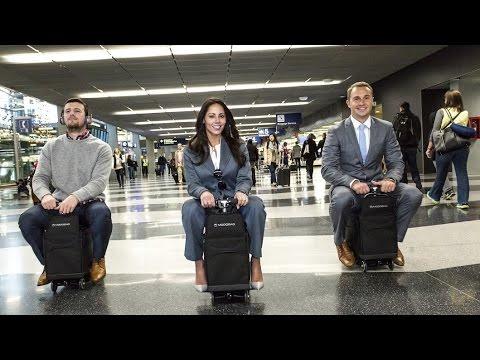 Modobag, una maleta motorizada que te lleva a una velocidad de 13 km h