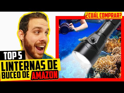 🔦 Mejor LINTERNA de BUCEO Submarina 🐟 Potente ▶Amazon 2021◀