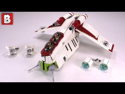 Awesomest Republic Gunship LEGO Model! LAAT Custom Build