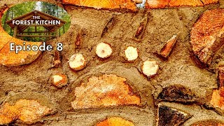 THE FOREST KITCHEN, Ep 8 at the Off Grid Log Cabin: Cordwood Bear Track