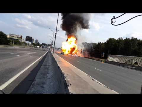 Explosiones después de un accidente