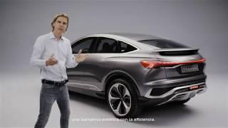 Descubriendo los secretos tras el diseño futurista del Audi Q4 Sportback e-tron concept Trailer