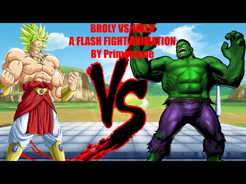 Broly vs. Hulk - A flash animation fight by Primestone