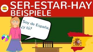 ser estar hay bungen beispiele zum unterschied bildung konjugation - Bildbeschreibung Spanisch Beispiel