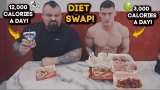 WORLDS STRONGEST MAN SWAPS DIET WITH BODYBUILDER | MattDoesFitness
