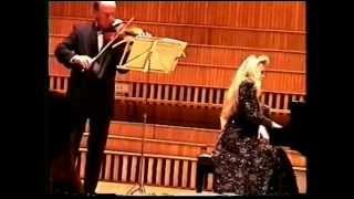 """Bohodar Kotorovich (violin), Eugeniia  Basalayeva (piano).  Klod Debussy """" La plus que lente, valse"""""""