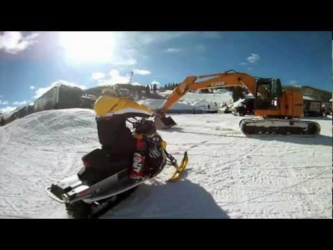 Crazy Snowmobile Driving