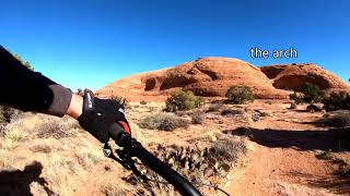 Riding up to Pothole Arch