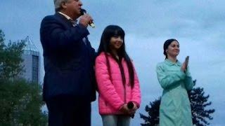 Выступление Денизы Хекилаевой на площади Абхазии (КБР, Нальчик) 03.05.17