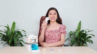Video máy massage và làm sạch sâu da mặt Hàn Quốc CNAIER AE8286B 4in1