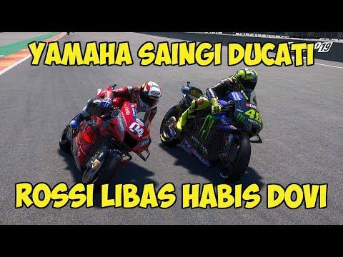 YAMAHA SAINGI DUCATI!! ROSSI LIBAS HABIS DOVIZIOSO!! - RACE MOTOGP 2020 - MOTOGP 19 GAMEPLAY