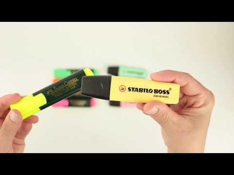 Comparativa Rotuladores Fluorescentes Stabilo - Faber Castell en 20milproductos.com