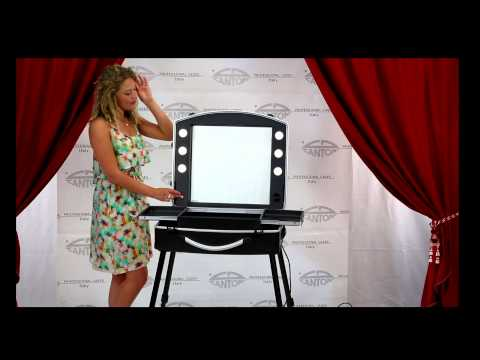 video Voyager Slim Valise make up  avec dimmer et housse de série