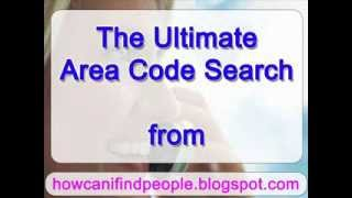 Area Code Search Through Phone Detective