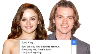 Joey King & Joel Courtney Answer the Web's Most Searched Questions   WIRED