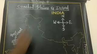 MAP  (COASTAL PLAINS & MOUNTAIN RANGES)
