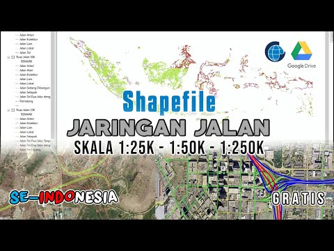 Data Shapefile Jaringan Jalan Indonesia Terlengkap