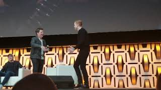 STAR WARS JEDI: FALLEN ORDER CAMERON MONAGHAN COMES ON STAGE AFTER TRAILER