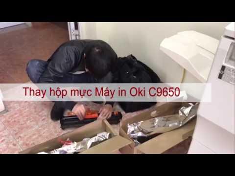 Video thay hộp mực máy in oki c9650 tại văn phòng của khách hàng