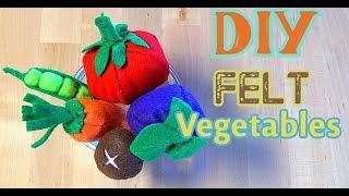 DIY Felt Vegetables CREATIVE IMAGINATION PLAY FOR KIDS