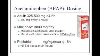 Analgesics and Antipyretics: Acetaminophen