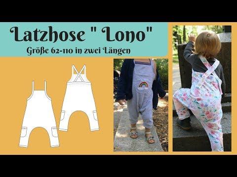 """Jersey Latzhose / Strampler """"Lono"""" nähen - Schritt für Schrittanleitung zum nachnähen / Größe 62-110"""