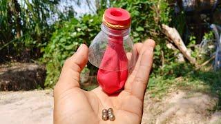 Making Slingshot Using Balloon with Plastic Bottle