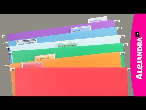 How to Organize Office Files (Part 1 of 9 Home Office Organization Series)