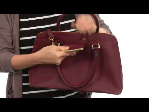 Calvin Klein On My Corner Leather Satchel  SKU:8445025