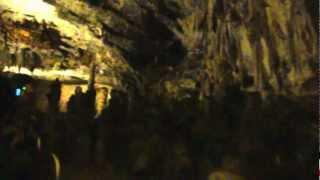 スロベニアポストイナ鍾乳洞トロッコ