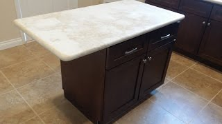 Kitchen Island Installation - QUICK AND EASY - DIY
