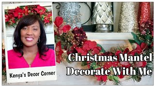 Christmas Mantel Decorate With Me | Chirstmas Mantel Ideas | Festive Friday Collab