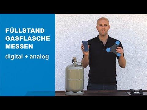 Füllstand der Gasflasche messen - digitale und analoge Anzeige