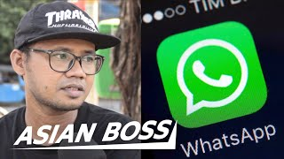 Indonesians React to Government WhatsApp Spying   ASIAN BOSS