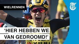 Van Aert wint massasprint: 'Dit maakt alles goed!'