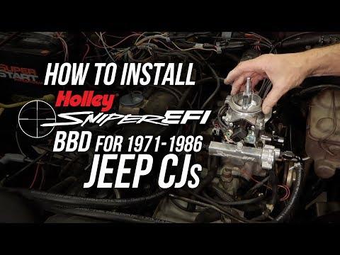 Holley Sniper EFI BBD for Jeep CJ