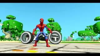 019   Человек Паук гонки с Героями мультика Тачки машинки в мире Дисней  Spider Man & Disney Pixar C
