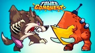 ТЕСТИРУЮ НОВЫХ ЮНИТОВ! Видео для детей про БОИ и СРАЖЕНИЯ на АРЕНЕ Игра Tower Conquest