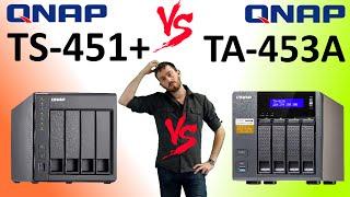 The QNAP TS-453A versus The QNAP TS-451+ The QNAP 4-Bays - the TS-453A-4G and TS-451+-2G