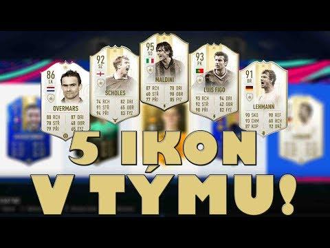 MÁM 5 IKON V TÝMU! | FIFA 19 DRAFT | CZ/SK
