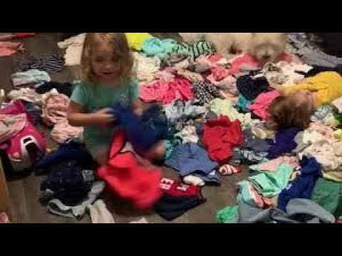 Twins decide to completely empty their drawers