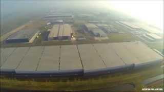 Industrie Waalwijk west vanuit de lucht
