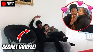I Setup a Camera & LEFT MY Little Cousin with my Best Friend ALONE! (THEY KISSED??)