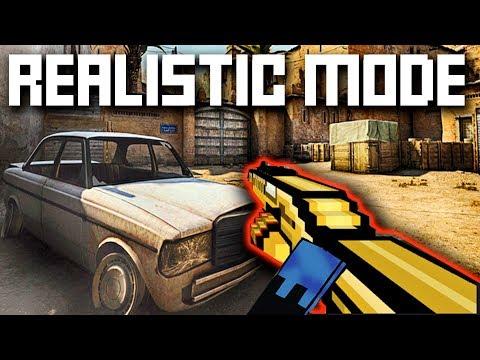 Realistic Mode Pixel Gun - JustZaku Brawl