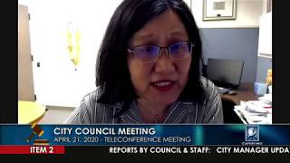 Cupertino City Council Meeting - April 21, 2020 (Part 1)
