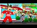 I Built A 10 000 000 Restaurant CRIMINALS Tried To Steal Money Roblox