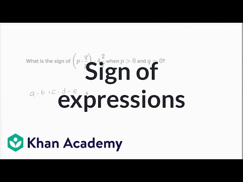 Thinking about the sign of expressions